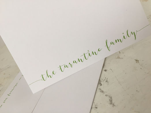 personalized script folding notecards