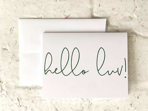 Hello Luv! Folding Note Cards