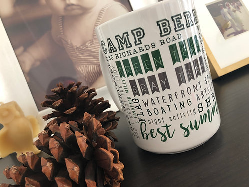 Camp Bernadette Words Mug