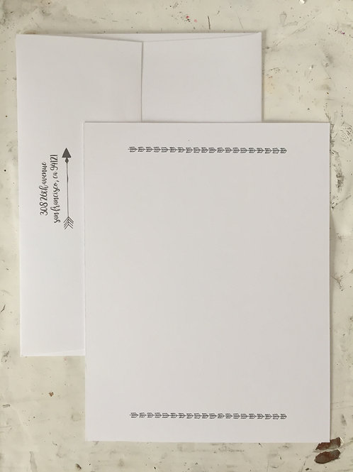 Arrowhead Flat Note Card