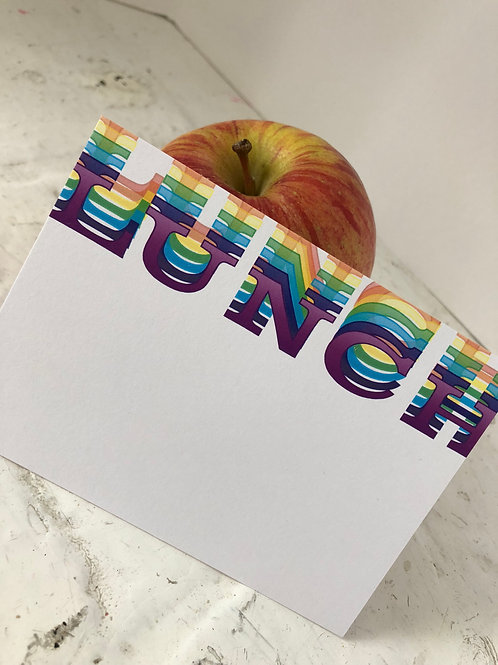 Rainbow LUNCH Lunchbox Notes (set of 50)