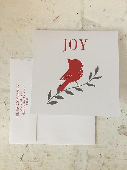 Cardinal Joy Square Folded Card