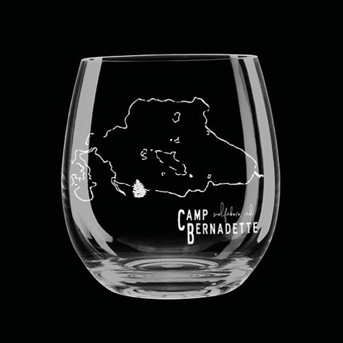 Bernie Wentworth Sketch Stemless Wine Glass