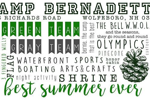 Camp Bernadette Words Mug
