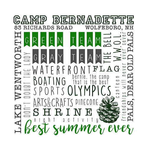 Camp Bernadette Wrapped Canvas