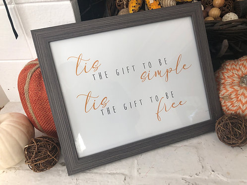 Simple Gifts Art Print