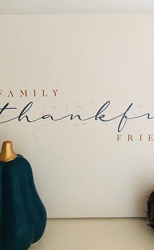 Thankful Canvas Gallery Wrap