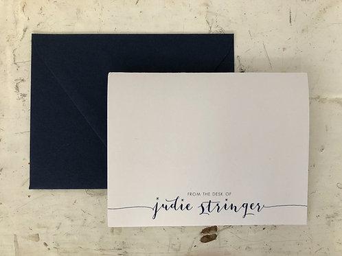 From The Desk Of... Jaime Script Folding Card