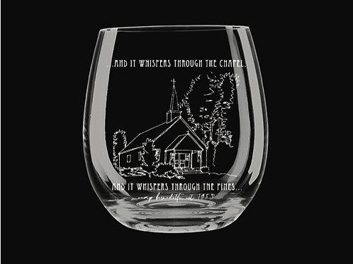 Chapel Sketch Stemless Wine Glass