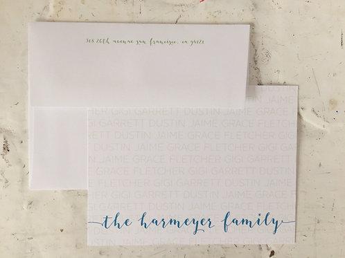 Jaime Script Flat Card