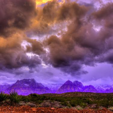 An angry sky