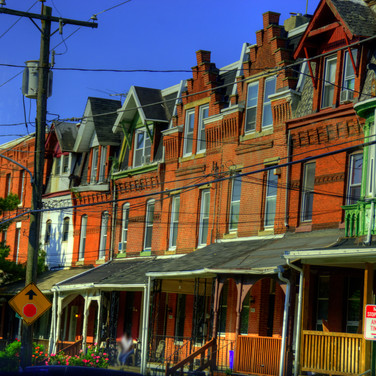 Philly rowhouses