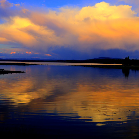 Yellowstone Lake Sunset