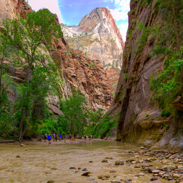 Narrows with hikers