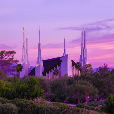 Las Vegas Temple at sundown