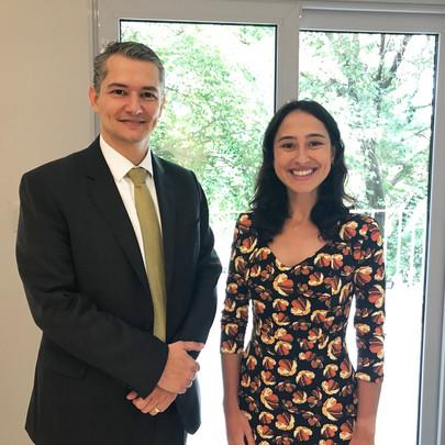 Daniel Douek e Samantha Bancroft