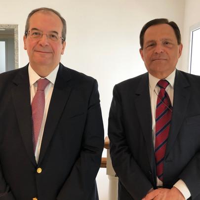 Ministro Ricardo Villas Bôas Cueva e professor João Grandino Rodas