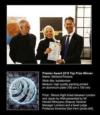 Premier Art Award Exhibition London 2019 Top Prize Winner!