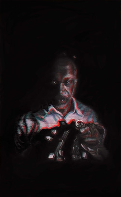 A black portrait (Bernard) - (SOLD)