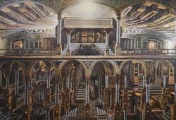 The calling, 120 x 80 cm - Acrylic painting on golden aluminum - 2020