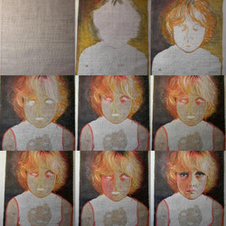 Process of painting Toy1