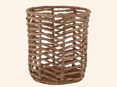 Corbeille artisanale en jacinthe d'eau