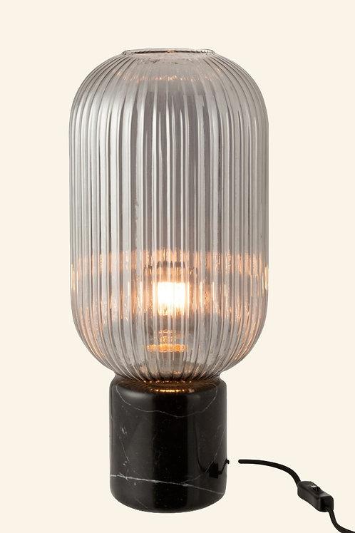 Lampe en marbre noir