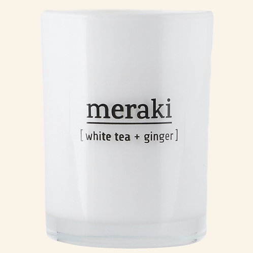 Bougie Meraki White Tea & Ginger