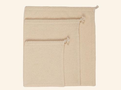 Set de sacs en coton réutilisable