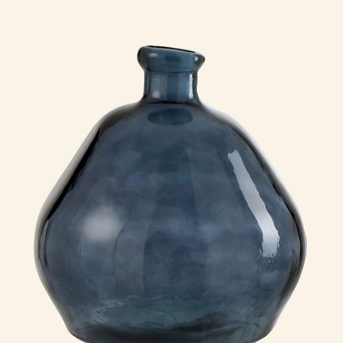 Vase boule transparent bleu  Ø47cm