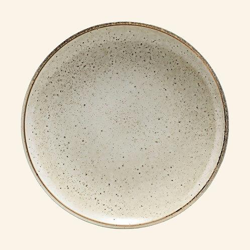Grande assiette - Grès texturé