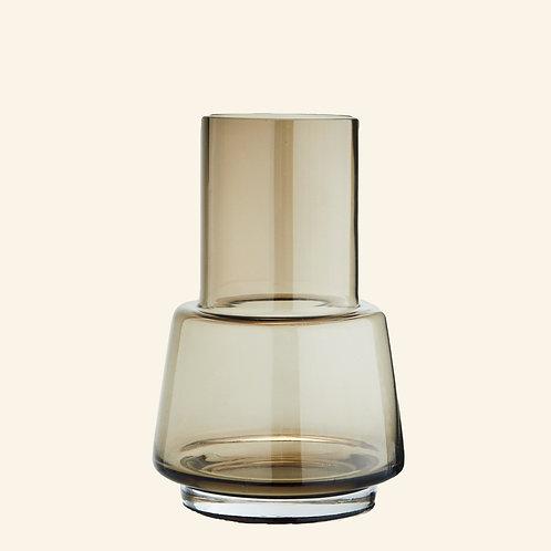 Vase transparent fumé