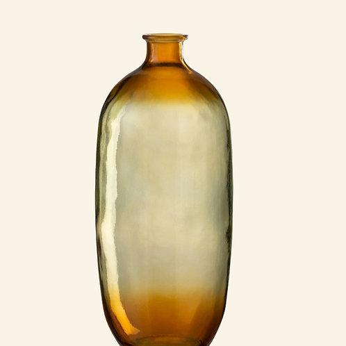 Vase transparent orange H40cm