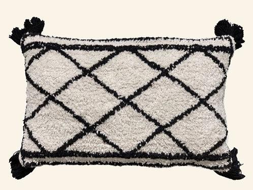 Coussin berbère - Noir et blanc