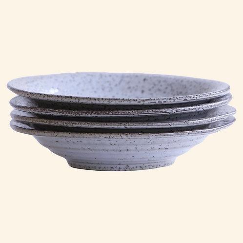 Assiette creuse - Grès bleu/gris