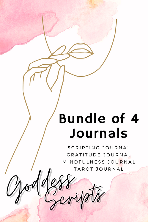Bundle of 4 Goddess Scripts Journals - Pdf Version