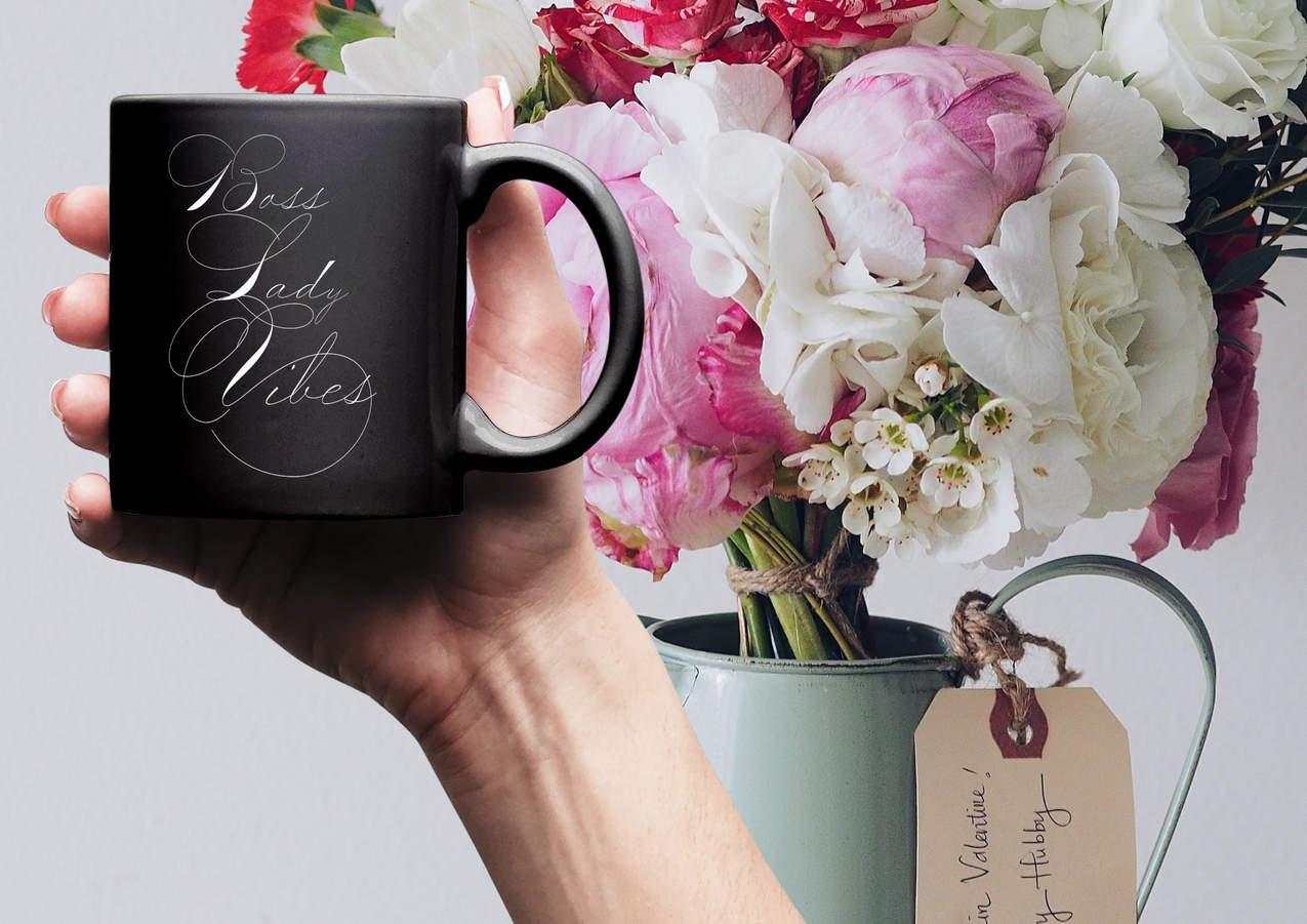 boss lady vibes coffee mug