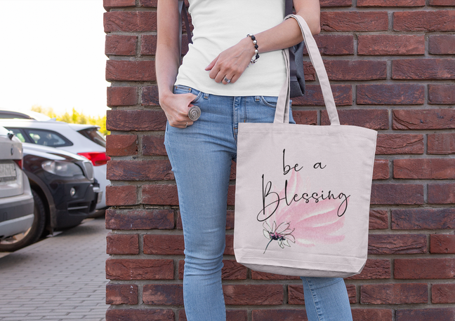 be a blessing tote bag