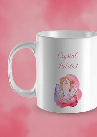 crystal addict coffee mug