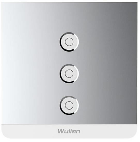 Smart Metallic Switch (Three-Gang,L/L&N)