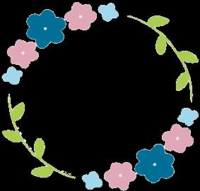 花フレーム丸ブルー.png