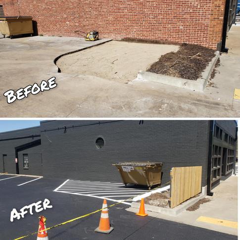 Commercial Parking Lot Repair Tulsa Okla