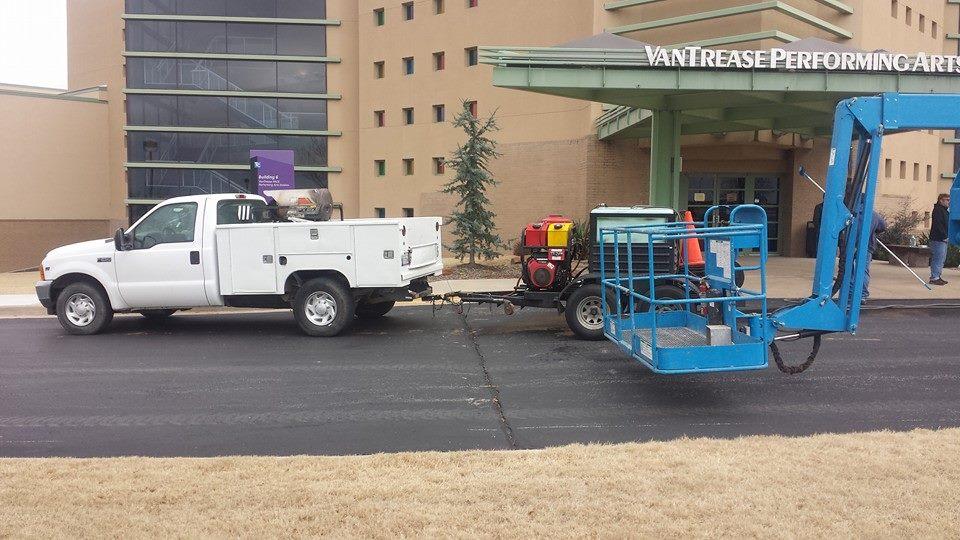 Pressure Washing Sealcoating Parking Lot Striping Tulsa Oklahoma City