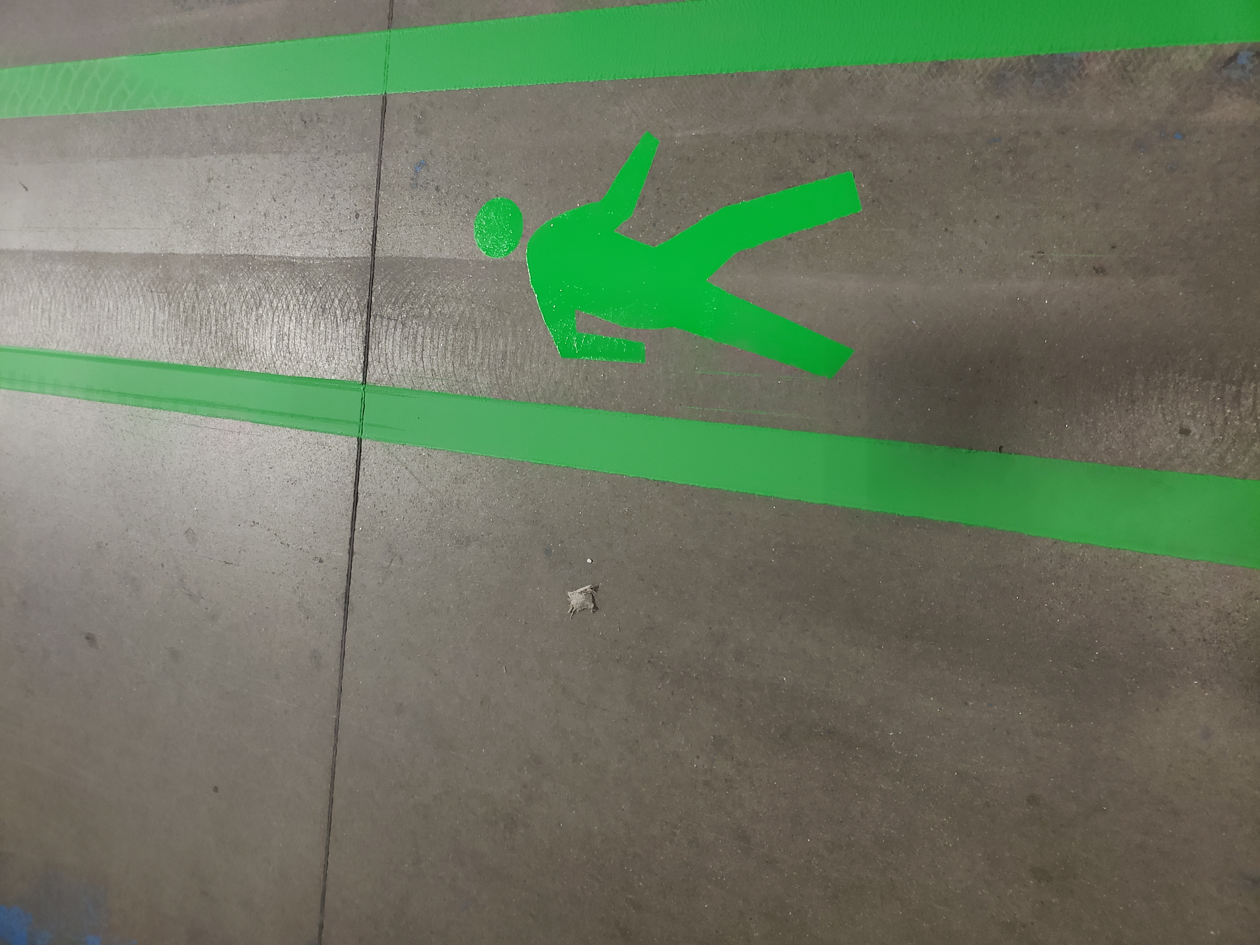 Indoor Warehouse Striping