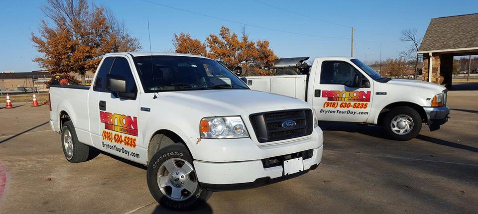 Bryton Trucks  Powerwashing Parking Lot Striping Tulsa Oklahoma