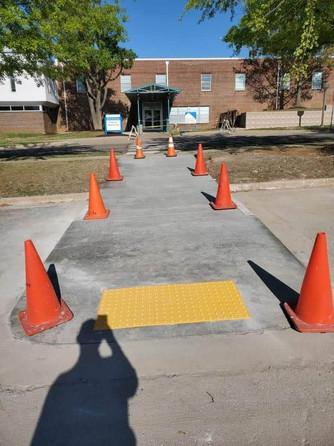 ADA Compliant Handicap Ramp Concrete Pav