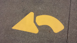 Parking Lot Striping curved arrow