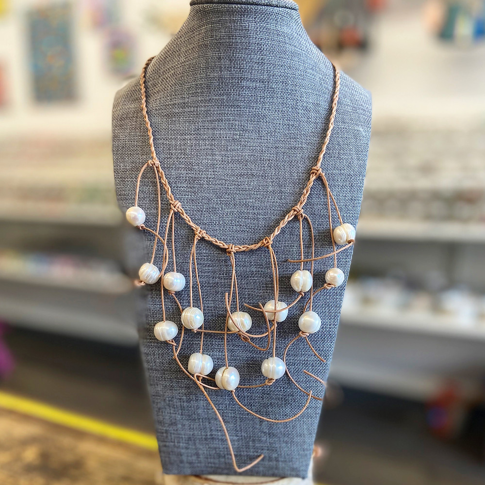 This Baroque Pearl bib-style necklace is a mermaid's dream