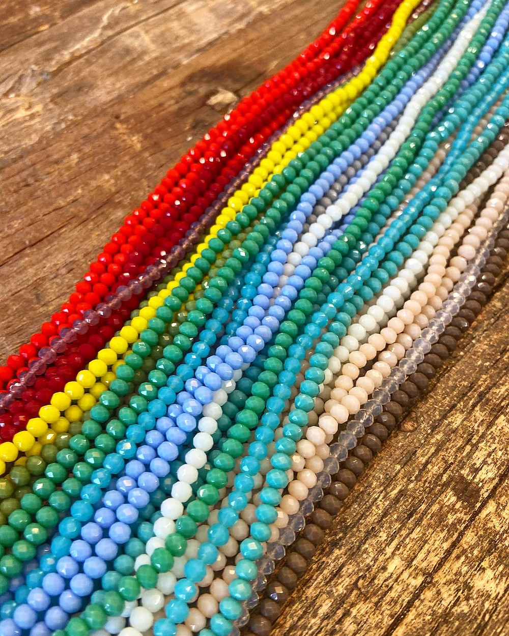 beautiful bursts of color beads