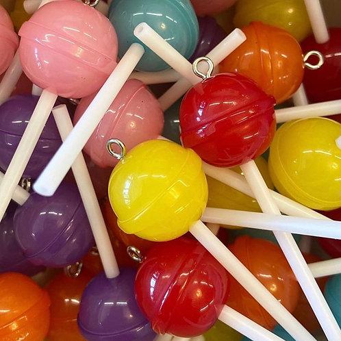 BubbleGum Pink Lollipop Charm
